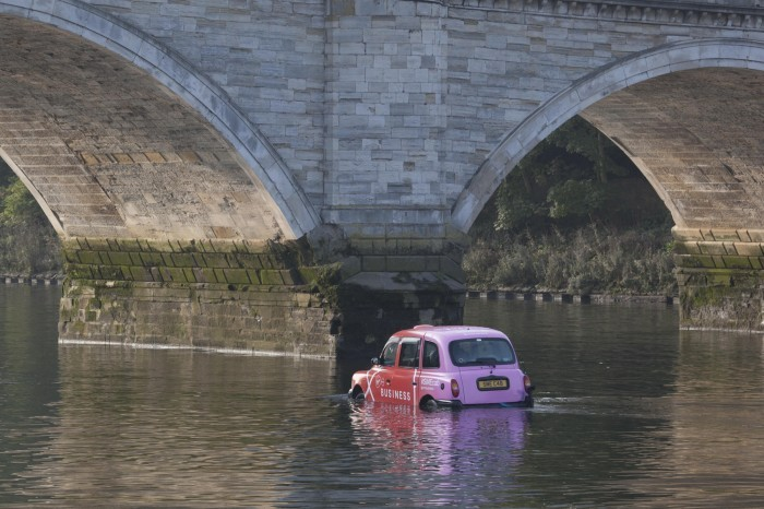 Virgin Media Business taxi takes to the Thames