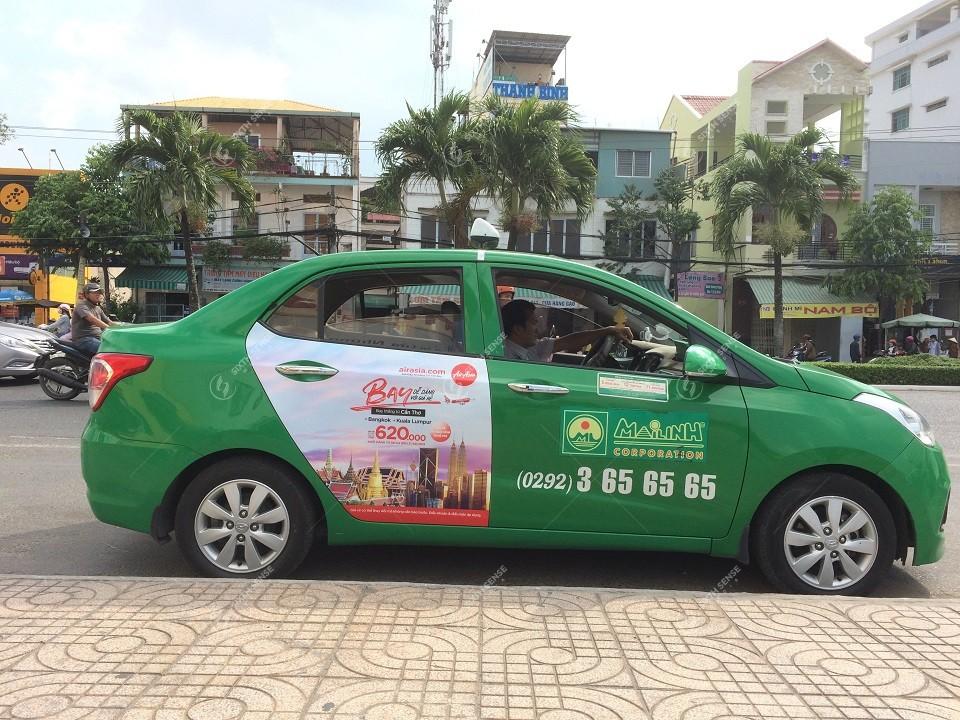 quảng cáo taxi mai linh tại hà nội