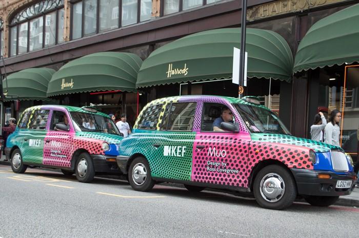 Taxi Advertising Harrods