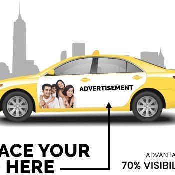 Quảng cáo trên cánh cửa xe taxi - Truyền thông 24/7!