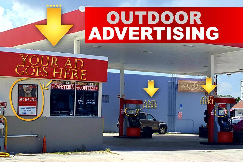 Quảng cáo tại trạm xăng ở nước ngoài như thế nào?