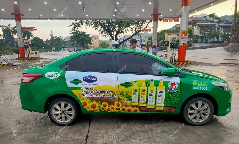 quảng cáo taxi mai linh tại tphcm